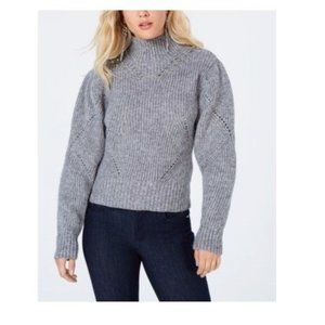 NWT GUESS Magnolia Gray Beaded Sweater